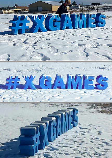 x games ice lettering