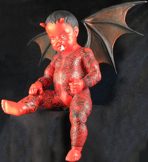 foam-sculpture-baby-devil